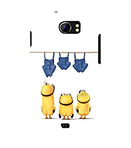 printtech Minions Bottoms Washing Back Case Cover for Micromax Canvas 2 A110::Micromax Canvas 2 Plus A110Q