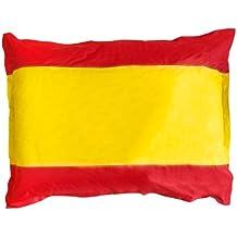 Lumaland Poltrona sacco gigante XXL Bandiera Spagna riempimento da 380 lt 140x180 cm per interni ed esterni