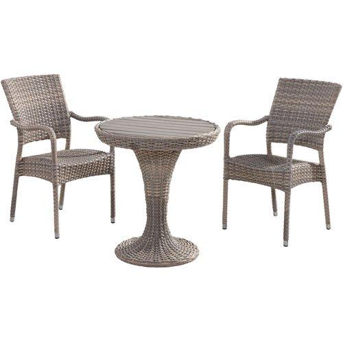 4 Seasons Outdoor Furniture Dover Beige Lagun Rattan Bistro Set Geflecht stapelbar