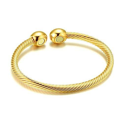 Magnetarmband Damen Herren Gesundheit Arthritis Pain Relief Therapie Schmerzlinderung Gold
