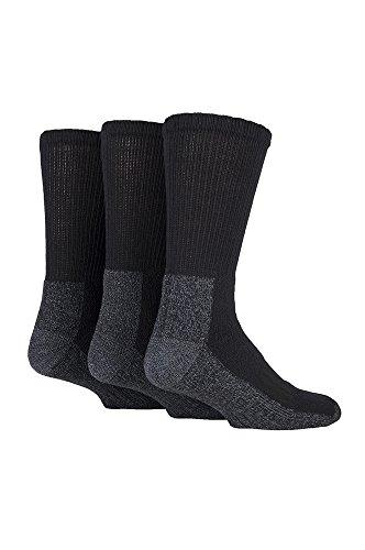 Work Force–Herren 3Pack schwere Arbeit Socken für Stahl Fuß Stiefel 6–11UK, wfh90, Schwarz, 39/45 (Stahl-toe-stiefel-13)