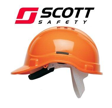 Scott Safety HC300/VO/SBT Helmet with Terry SB, Vented, Orange