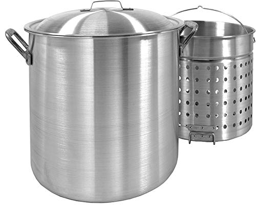 160 Quart Stock Pot (Bayou Classic 1600 Stockpot with Basket, 160-Quart)