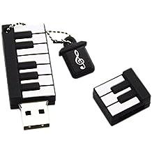 Hosaire Memoria flash USB de 4GB/8GB/16GB/64GB ,USB 2.0 Flash Drive de USB Almacenamiento de datos externo, Diseño de forma de piano(4GB)