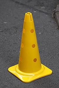 agility sport pour chiens - cône avec trous, 40 cm, jaune - 1x MZK40y