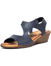 Sandalia piel Oh! my Sandals 3626 Serpiente Azul