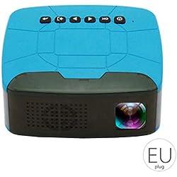 Ruiboury Mini USB Projecteurs HD TF Carte vidéo Portable Projecteur de cinéma Maison HD 1080P Film Beamer Projecteur