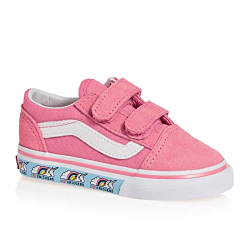 Vans Old Skool Toddler Shoes 25 EU Unicorn Strawberry Pink/True White