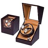 Automatic Watch Winder Doppelte automatische Uhrenbeweger Box aus Holz Luxus Aufbewahrungskoffer für 2 Armbanduhren Automatic Clockwork