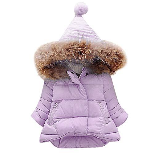 OVERMAL Baby Mädchen Daunenjacke Baby Kleinkind Mädchen Winterjacke Kinderjacken Winter Warm Mantel Jacke Dicke Kleidung Winter (12 Monate, Lila)