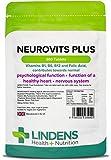 Lindens Neurovits Plus en comprimidos | 360 Paquete | Contiene vitaminas B1, B6, B12 y ácido fólico; contribuye al funcionamiento normal psicológico y a tener un corazón y un sistema nervioso sanos