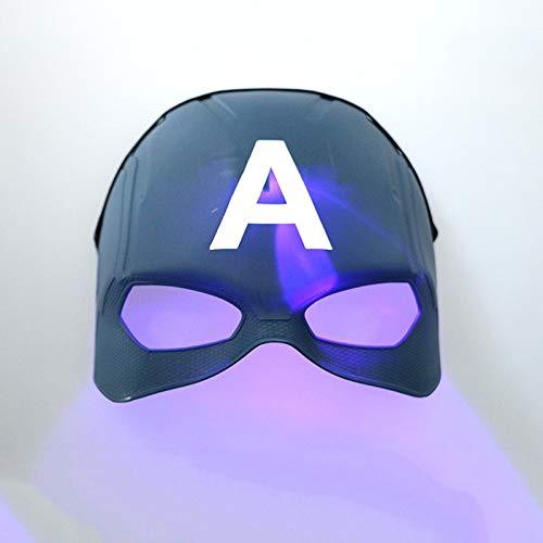 Capitán América Máscaras Película Cosplay Trajes Props Halloween Superhéroe PVC Máscara Coleccionable