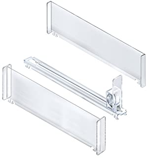 Azar Displays 225912 10-Compartment Tall Spring Load Track Kit (2 Tall End Dividers, 9 Tall Center Dividers, 10 Pusher Tracks)