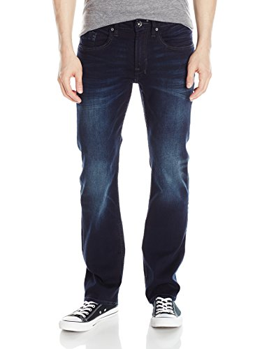 Buffalo David Bitton Herren Jeans Six Slim Straight - Blau - 34W / 30L Buffalo Denim