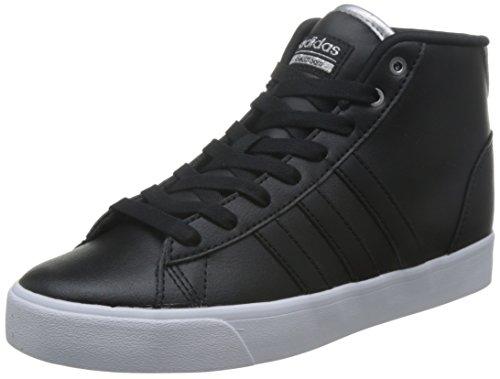 adidas Cloudfoam Daily QT Mid W, Sneaker Basses Femme Noir (Negbas/negbas/plamet)
