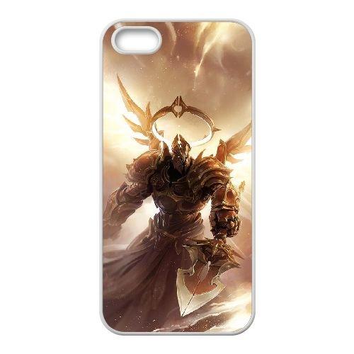 Diablo coque iPhone 5 5S Housse Blanc téléphone portable couverture de cas coque EBDXJKNBO09120