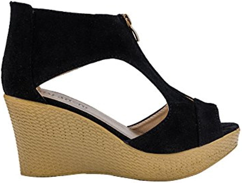 c63e2bba55a23c Tingtingbin Femelle s Chaussures Femmes s s s d'été  décontracté Peep Plate-Forme Plate-Forme s...B07FZ9MR58Parent    Prix Modéré ...