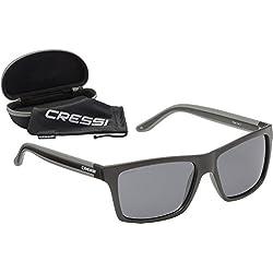 Cressi Rio Sunglasses Gafas de Sol, Unisex Adultos, Negro/Gris Oscuro, Talla única