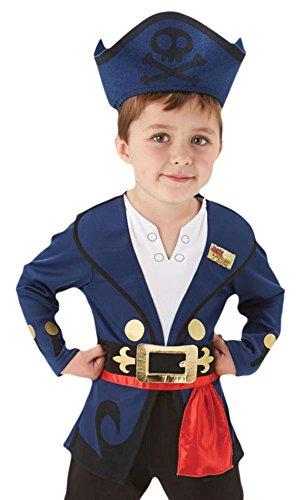 erdbeerloft - Jungen Karneval Jake Nimmerland Piraten Komplett Kostüm , Mehrfarbig,