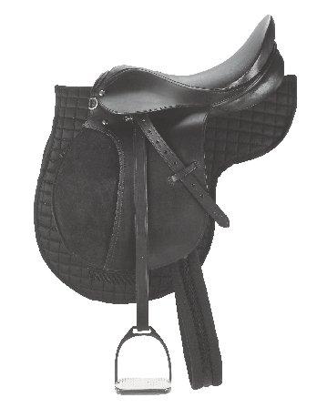 Ledersattel-Set 17,5 Zoll Pferde-Sattel Vielseitigkeit/ Dressur/ Springen/ Dressurreiten/ Springreiten Pferdesattel
