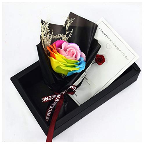 Gifts Simulation Artificial Floral Rose Soap Flower Bouquet Decoration Wedding Valentine's Day Party Favors B Floral Dome