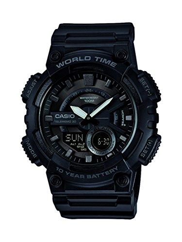 Casio Reloj Analogico-Digital para Hombre de Cuarzo con Correa en Resina AEQ-110W-1BVEF