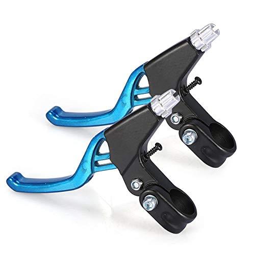 Dilwe Leva del Freno, Maniglie di Livello del Freno del Manubrio della Bici della Lega di Alluminio della Lega di Alluminio di 4 Paia per la Bicicletta(Blu)