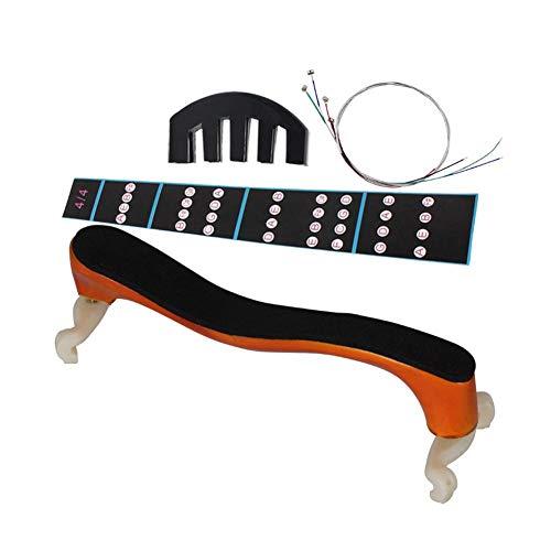 Drfeify Violine Schulterstütze, Professional 4/4 Violine Schulterstütze String Mute Griffbrett Aufkleber Set