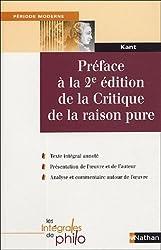 Préface à la 2e édition de la Critique de la raisonpure