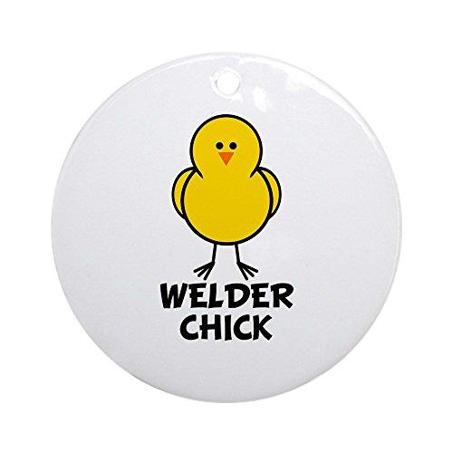 d28bae9a9666a CafePress – Welder Chick Ornament (rund) – Rund Urlaub Weihnachten Ornament