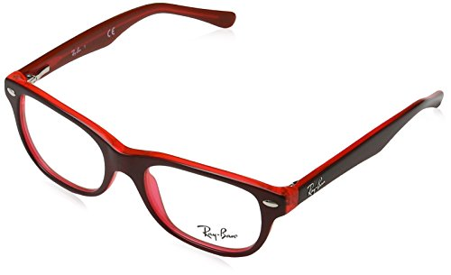 Ray-Ban Unisex-Kinder 0RY 1555 3664 48 Brillengestelle, Rot (Topo On Red Fluo)