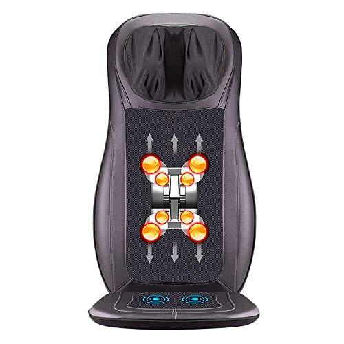 Cmmin massaggiatore for auto massaggiatore for schiena cuscino for sedili for massaggio shiatsu riscaldamento del motore vibrazioni