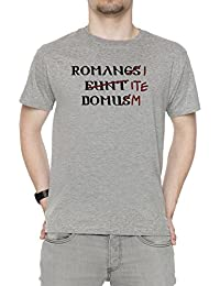 Erido Romani ITE Domum Hombre Camiseta Cuello Redondo Gris Manga Corta  Todos Los Tamaños Men s Grey a8820760155