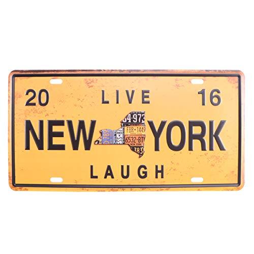 Vosarea New York Zinnwand aus Metall Vintage Zeichen für Kaffee Bar Pub Bier Garage Bar Pub Wanddekoration (Zeichen Vintage-kaffee)