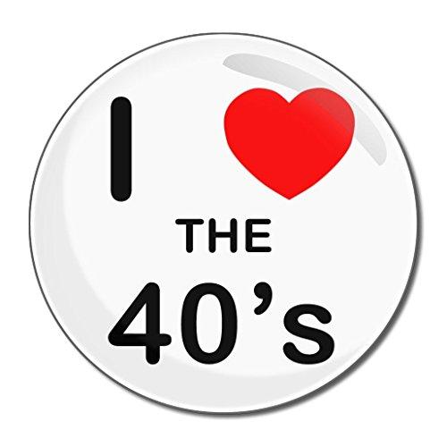 I Love The 40's - Miroir compact rond de 77 mm