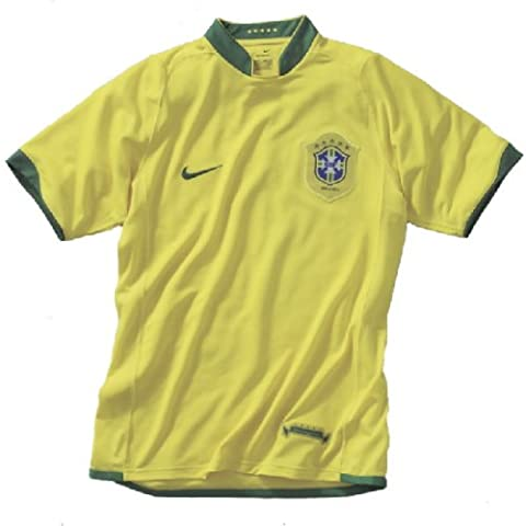 Nike Brasilien Fußball-Heimtrikot,Größe XXL, gelb