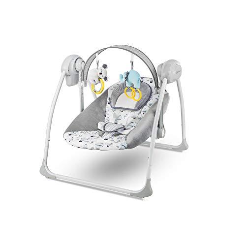 Kinderkraft KKBFLOMINT0000 Babywippe Babyschaukel mit Spielbogen und Melodien, grün