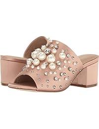 Aldo Womens Pearls Open Toe Mules Light Pink Size 6.5