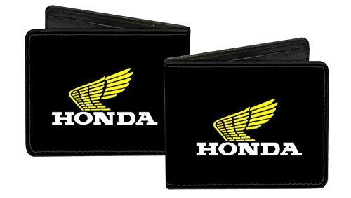 honda-automobile-company-yellow-winged-motorcycle-logo-bi-fold-wallet
