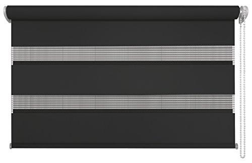 mydeco® 80x160 cm [BxH] in anthrazit (bis schwarz) - Doppelrollo ohne bohren, Duorollo - Klemmfix Rollo incl. Klemmträger - Sonnenschutz, Sichtschutz für Fenster (Rollo Clip)