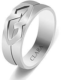 Clara Together 92.5 Sterling Silver Designer Ring For Men And Boys