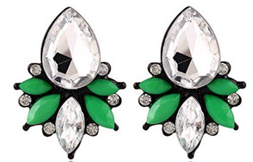 SaySure - Earrings Rhinestone Glass Resin Sweet Brincos