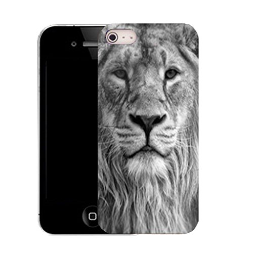 """Mobile Case Mate IPhone 6S 4.7"""" clip on Silicone Coque couverture case cover Pare-chocs + STYLET - lion mane pattern (SILICON)"""
