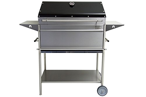 "Holzkohlegrill Edelstahl Premio XL \""Barbecue\"""