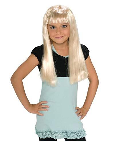 Horror-Shop Popstar Kinderperücke Blond