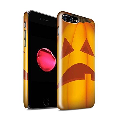 STUFF4 Glanz Snap-On Hülle / Case für Apple iPhone 8 Plus / Böse Muster / Halloween Kürbis Kollektion Traurig
