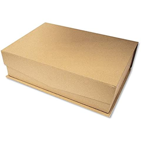 Set 2 Scatole cartone con coperchio ribaltina Avana - Decorabilia KC52 - Scatola Di Cartone Crafts