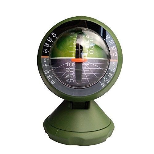 Shaddock Fishing® ABS plastica verde auto Compass Slope Meter ad alta precisione auto portatile digitale di livello strumenti strumenti di misura veicolo auto Slope Compass