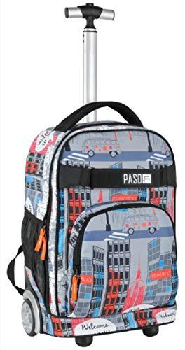 Paso grande zaino trolley welcome to new york per maschio femmina unisex scuola media, elementare