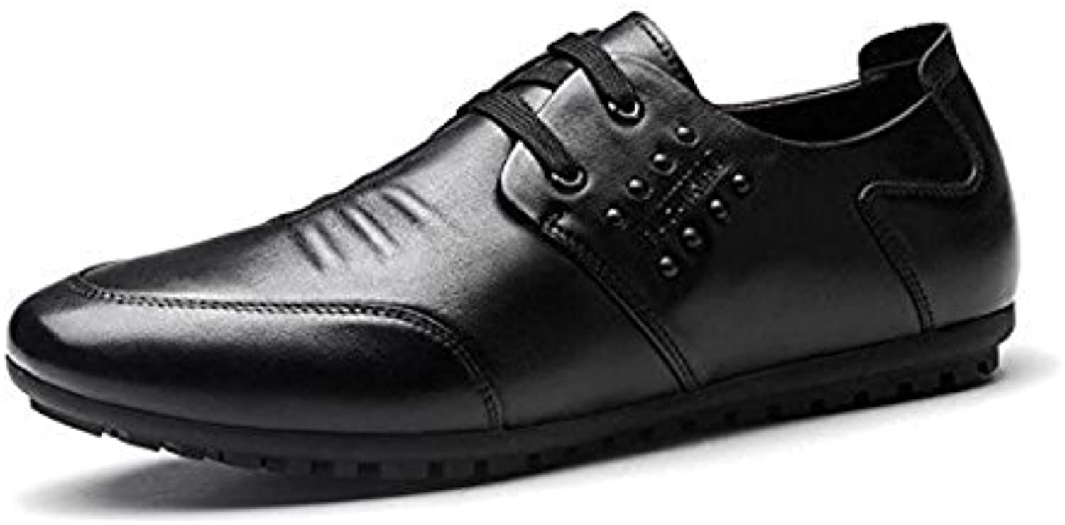 Koyi Herrenschuhe Sommer Casual Business Lederschuhe Breathable British Schuhe Casual Lace ups Formelle Schuhe